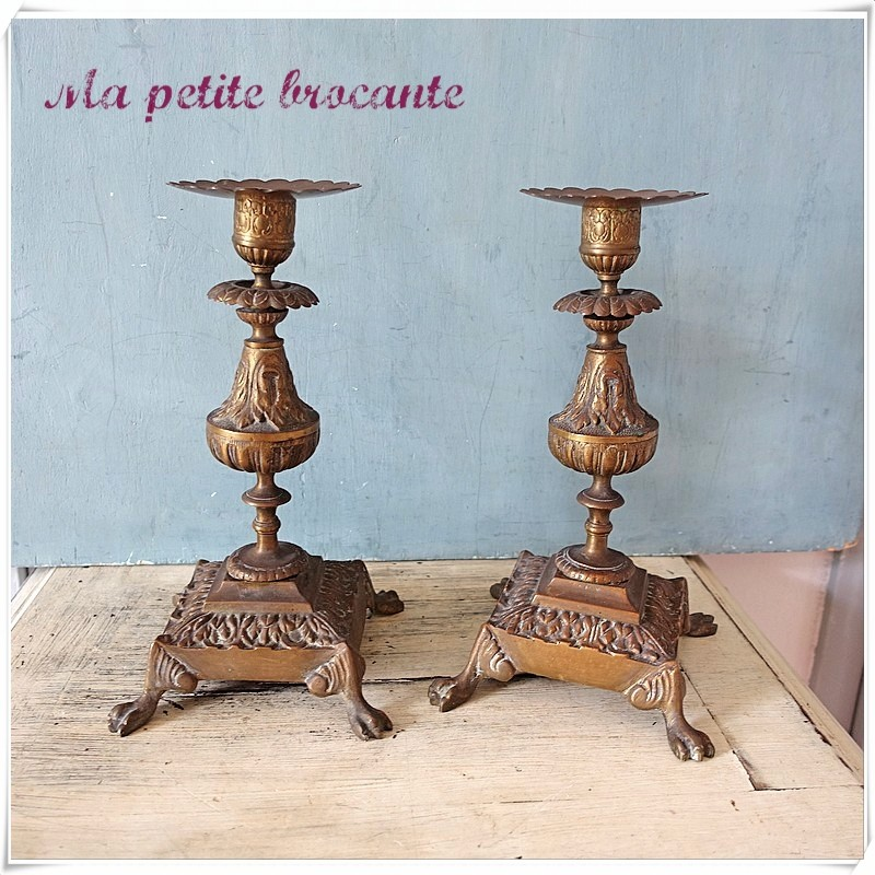 Paire de bougeoirs